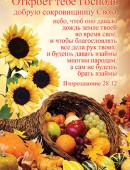"""""""Откроет тебе Господь добрую сокровищницу Свою... Второзаконие 28:12"""". Открытка почтовая одинарная"""